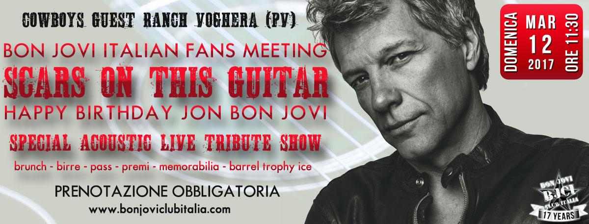 Immagine Scars On This Guitar – Bon Jovi Italian Fans Meeting