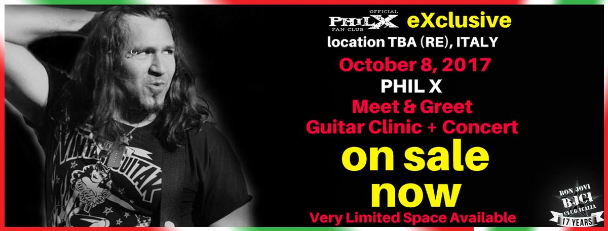 Immagine Domenica 8 ottobre 2017 Phil X in Italy!