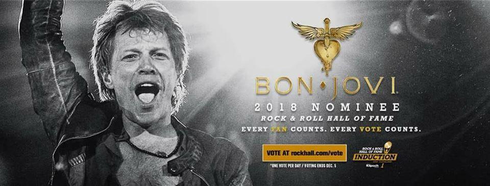 Immagine I Bon Jovi nominati per la Rock'n'Roll Hall Of Fame 2018