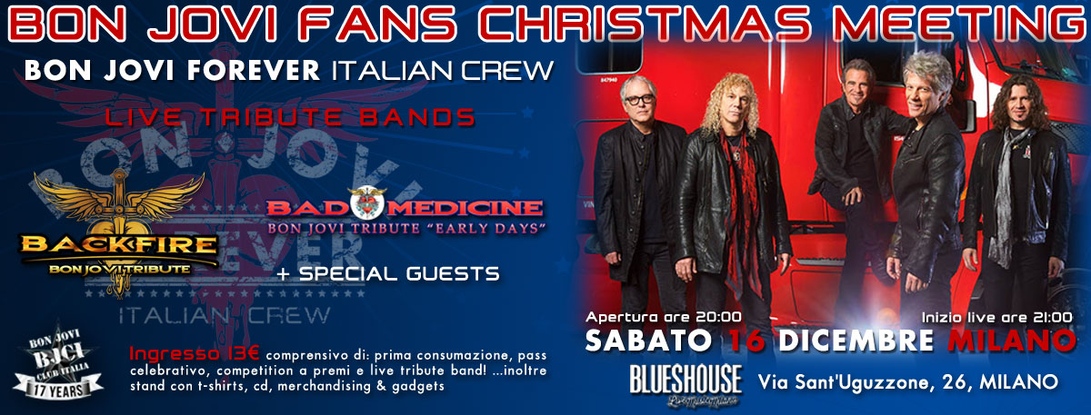 Immagine BON JOVI FANS CHRISTMAS MEETING 2017